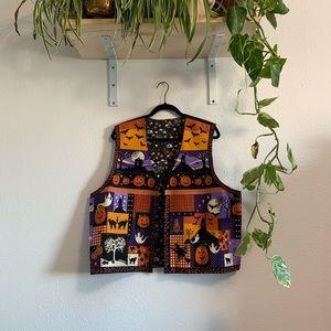 SOLD Reversible Halloween Vest